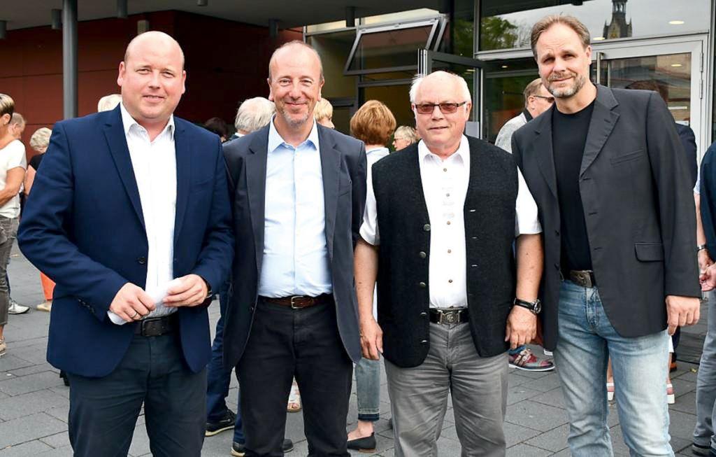 Über eine gelungene Veranstaltung freuten sich (v. l.) Holger Bormann (MIT), Markus Lüdke (Akademie), Wolfgang Gürtler (MIT) und Henrik Ballwanz (Akademie).